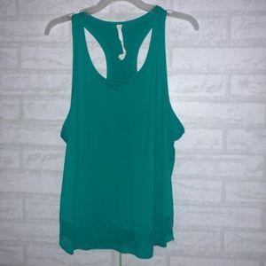 Women's Lululemon teal green tank top sz 10
